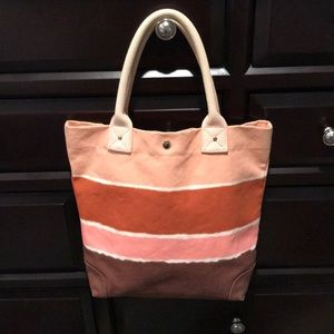 Jcrew canvas striped tote